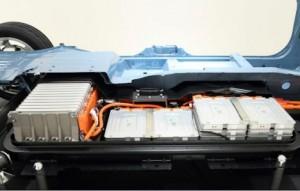 Batteriet i en Nissan Leaf. Bilde: Nissan