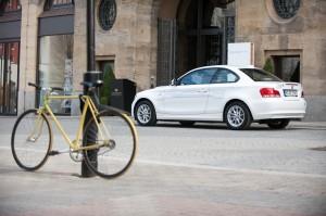 BMW Active E ved Hotel Steigenberger i Leipzig